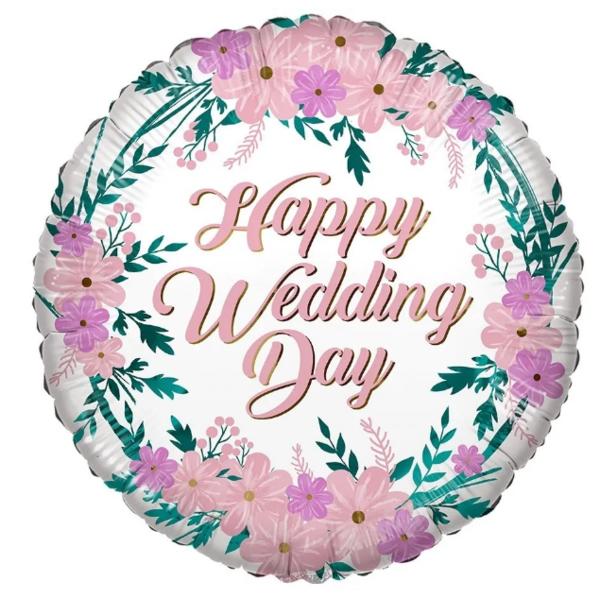 ECO, Fólia lufi, Wedding day, virágos,  46 cm