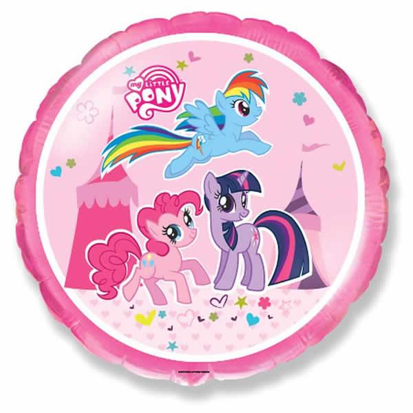 Fólia lufi, kerek, My Little Pony, 45cm