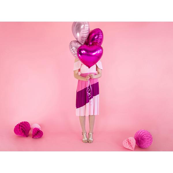 Fólia lufi, 45cm, szív, light pink