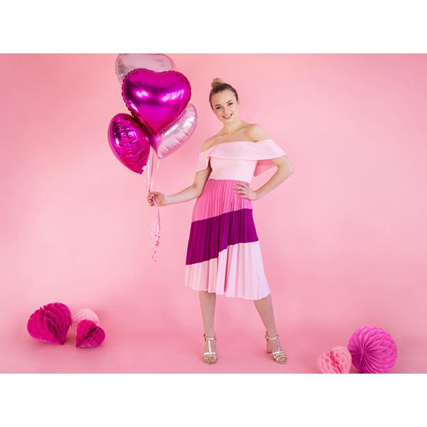 Fólia lufi, 45cm, szív, sötét pink