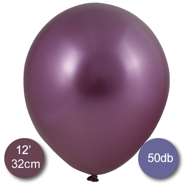 Króm (tükör) lufi, pink színben, 50db/cs