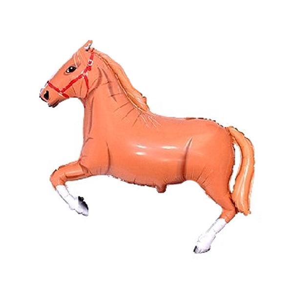 Fólia lufi, mini forma, barna ló, kb 30-35 cm