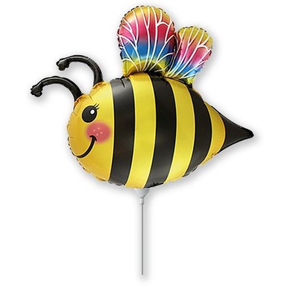 Fólia lufi, mini forma, boldog méhecske