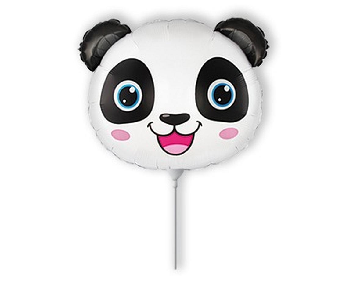 Fólia lufi, mini forma, panda fej