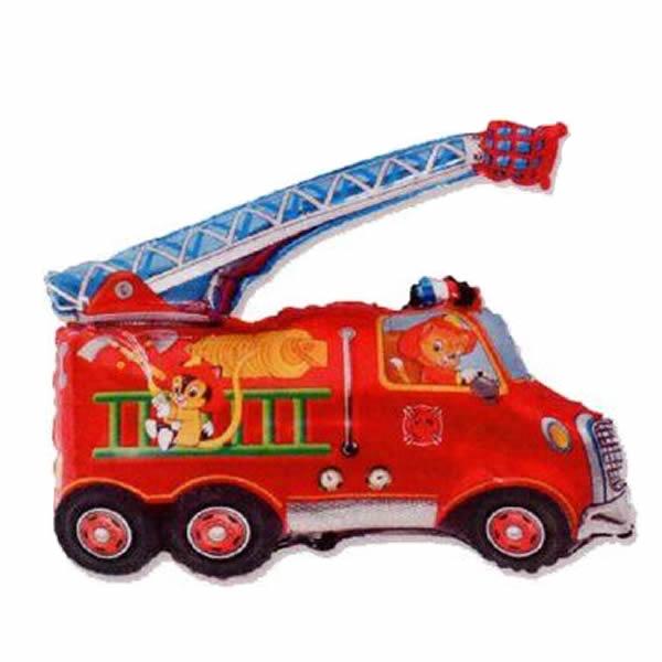Fólia lufi, mini forma, tűzoltó autó, 14