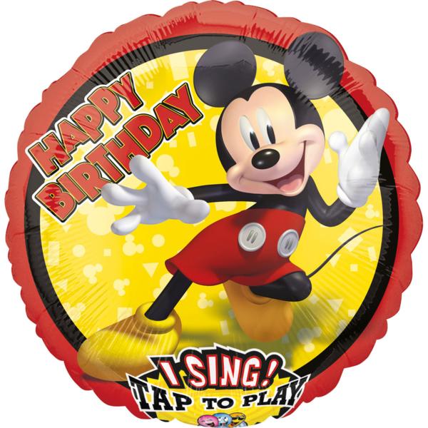 Fólia lufi, zenélő, Mickey Mouse forever, 71 cm