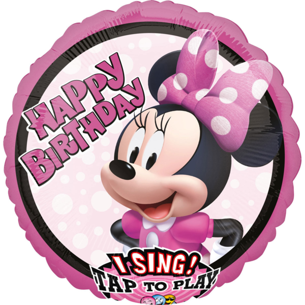 Fólia lufi, zenélő, Minnie Mouse forever, 71 cm