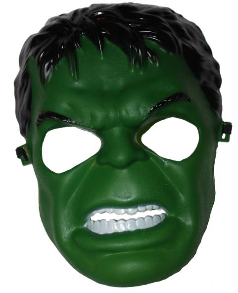 Műanyag álarc. zöld ember