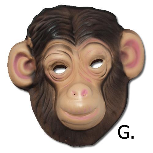 Csimpánz álarc, polifoam