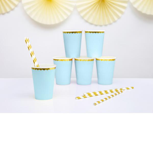 Party pohár, világos kék, 220ml, 6db/cs