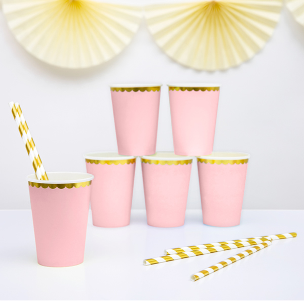 Party pohár,  rózsaszín, 220ml, 6db/cs