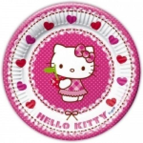 Hello Kitty tányér, 20 cm, 8 db/cs