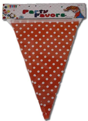 Party zászló, pöttyös