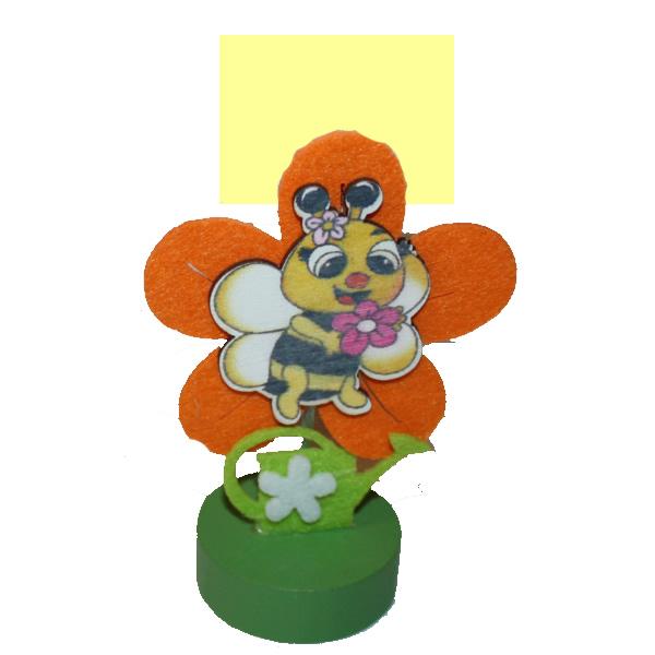 Húsvéti asztali jegyzet csipesz, narancs, méhecske