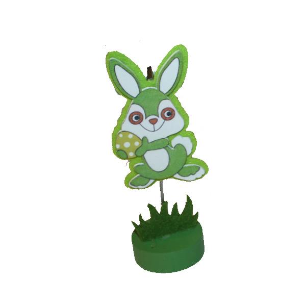 Húsvéti asztali jegyzet csipesz, zöld nyuszi