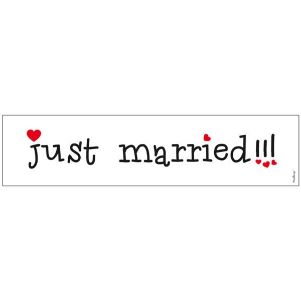 Rendszámtábla, Just married!