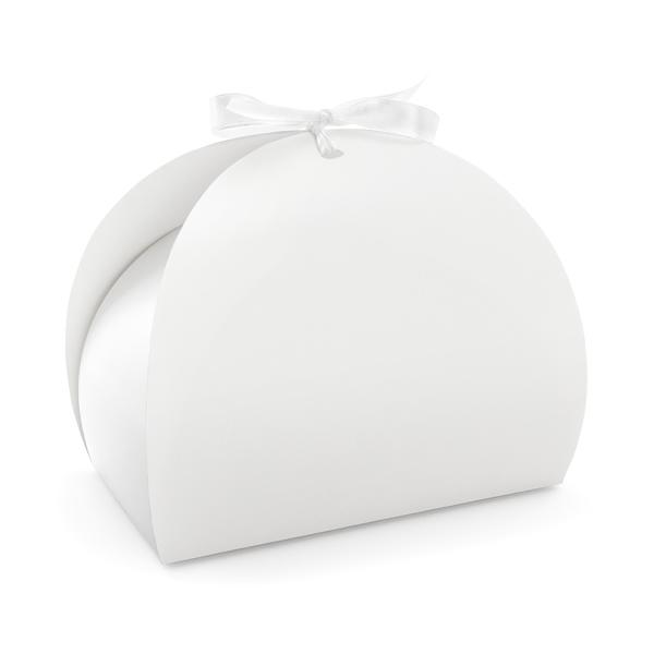 Tortadoboz, elegáns fehér, 10 db/cs