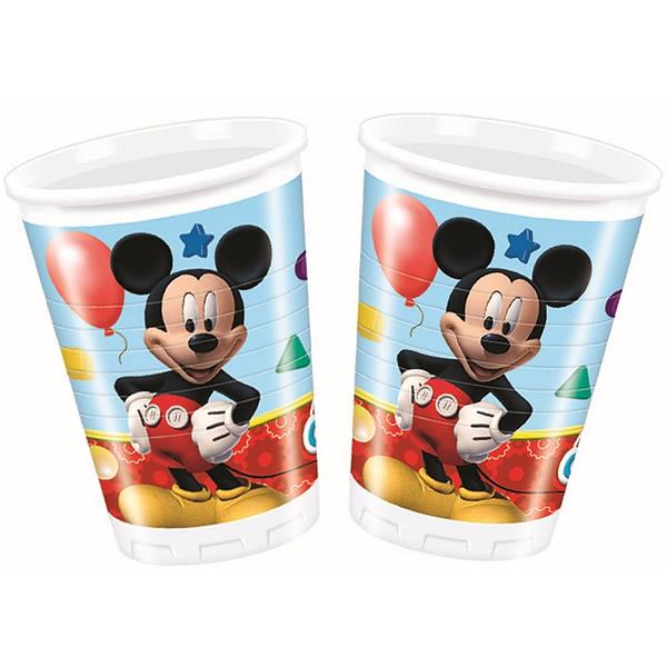 Pohár, műanyag, Mickey 2dl, 8 db/cs