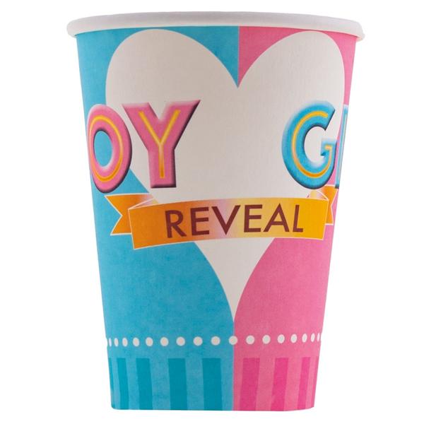 BOY OR GIRL, papír pohár, 2,5dl, 8 db/cs