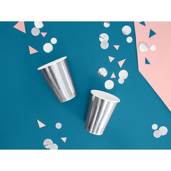 Party pohár, ezüst,  6db/cs, 220 ml