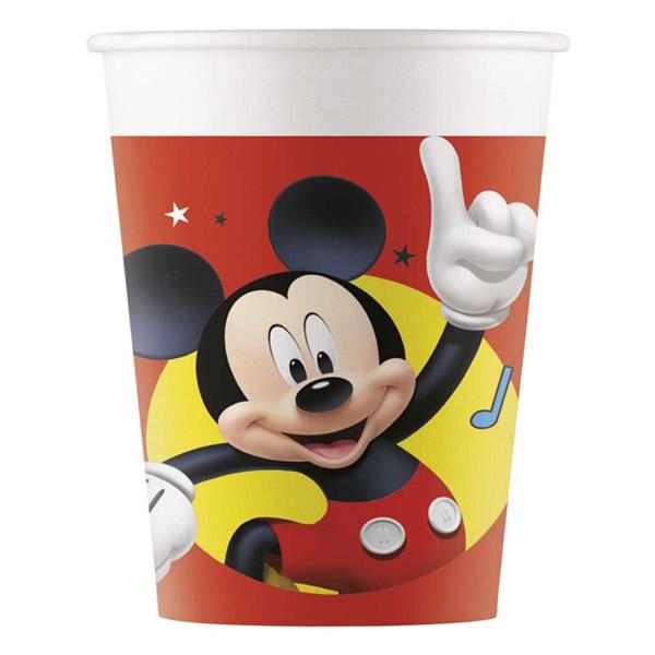 Papír pohár, Mickey, sound, 2dl, 8 db/cs