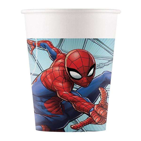 Pókemberes papír pohár, 200 ml, 8 db/cs