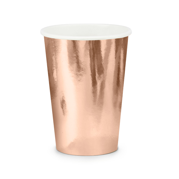 Party pohár, rosegold,  6db/cs, 220 ml