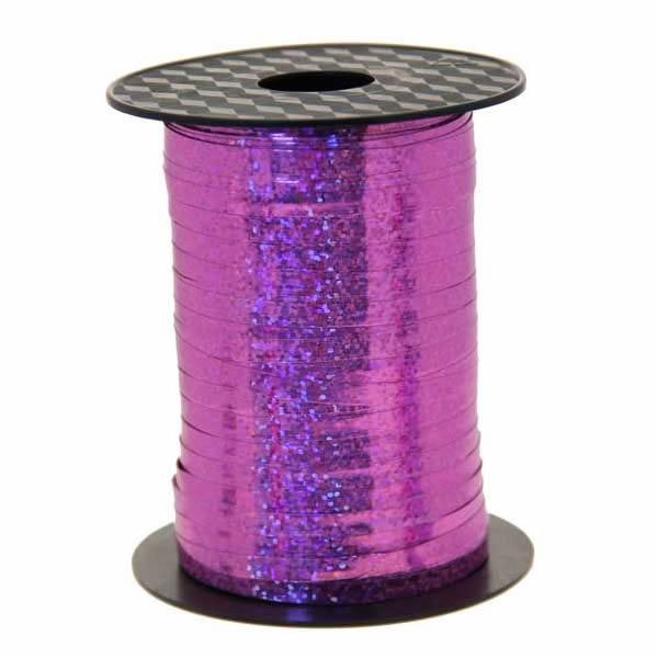 Kötöző szalag,  bébi pink, hologramos, 250mX5mm