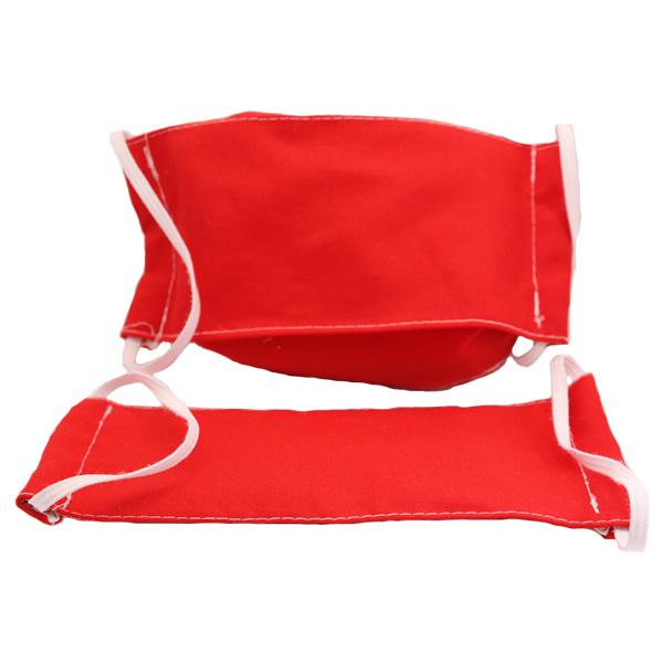 Szájmaszk 3 rétegű,  piros, 2 db/cs