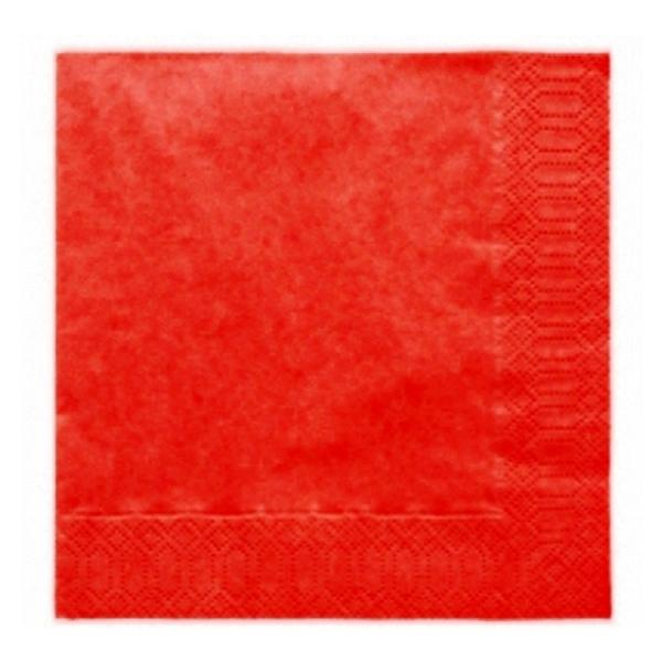 Szalvéta, 20 DB, 33X33 CM, 3 rétegű, piros
