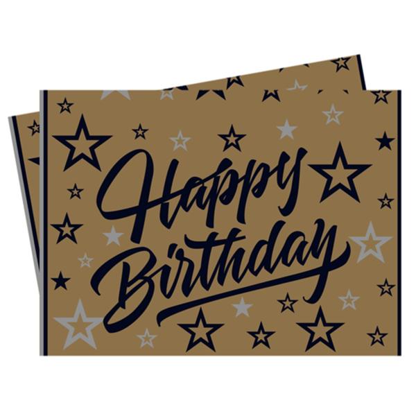 Parti szalvéta, Happy birthday, 16 db, 33x33 cm