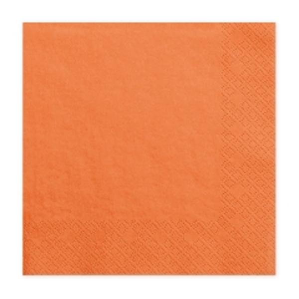 Szalvéta, 20 DB, 33X33 CM, 3 rétegű, narancs