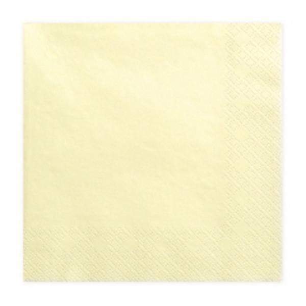 Szalvéta, 20 DB, 33X33 CM, 3 rétegű, krém