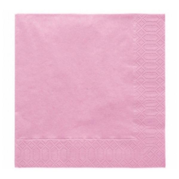 Szalvéta, 20 DB, 33X33 CM, 3 rétegű, vil. rózsaszín