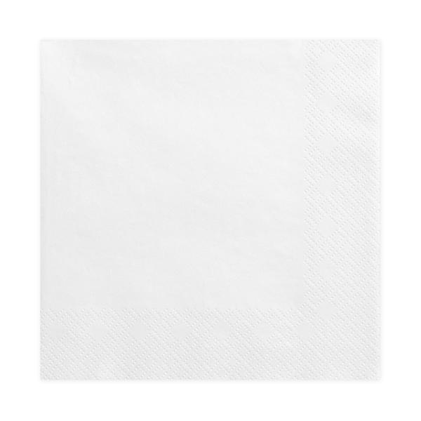 Szalvéta, fehér, 3 rétegű, 40X40cm, 20db