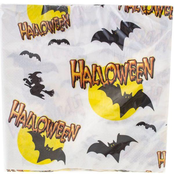Szalvéta, 33x33 cm, 20 db, Halloween, Fehér