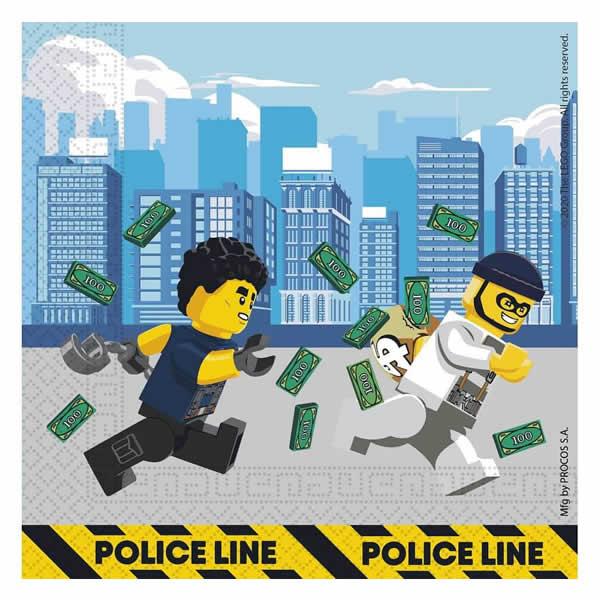 Papír szalvéta, Lego City, 16 db/csomag