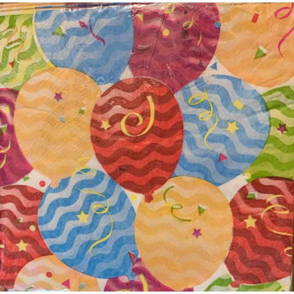 Papír szalvéta 20 db/cs, színes, lufis