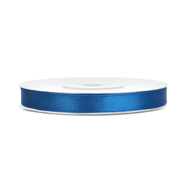 Dekor szaténszalag, kék, 6mm/25m