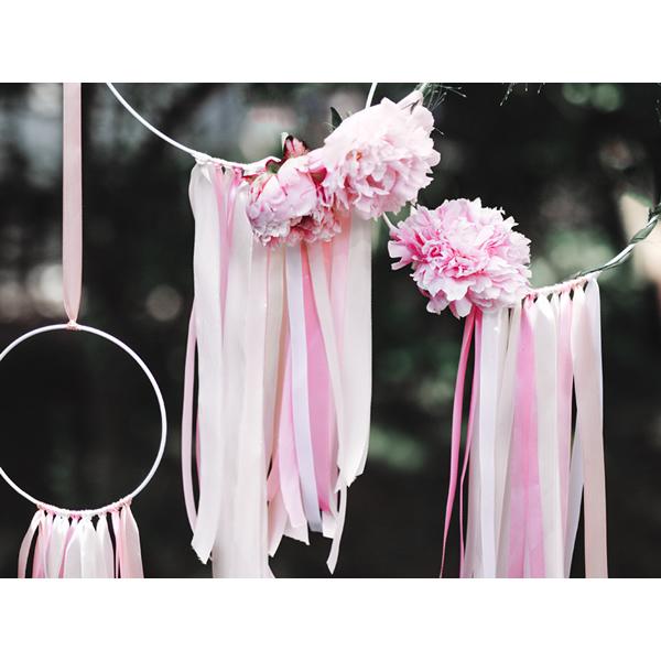 Dekor szaténszalag, világos pink, 6mm/25m