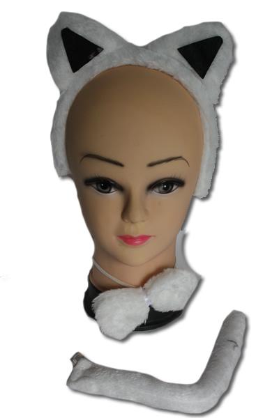 Fehér cica szett, 3 részes