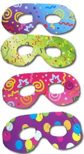 Papír szemüveg  6 db/cs - mintás - gyerek