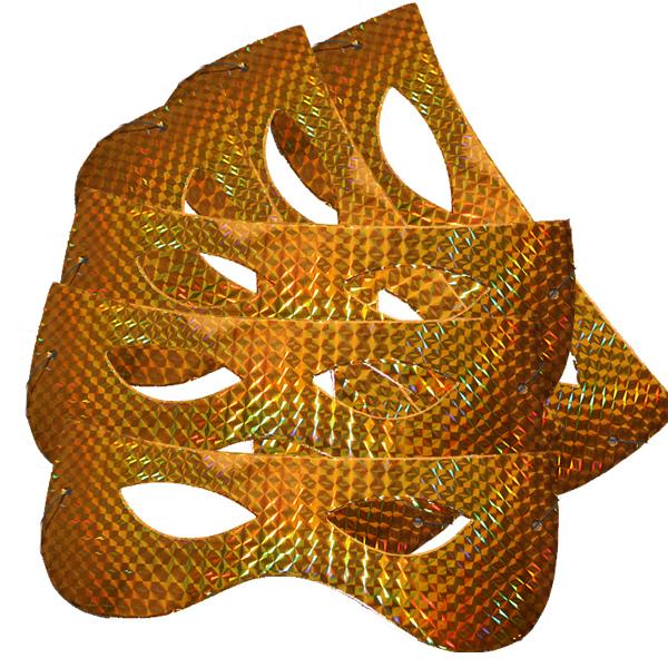 Papírszemüveg, hologramos, arany, 6 db/cs