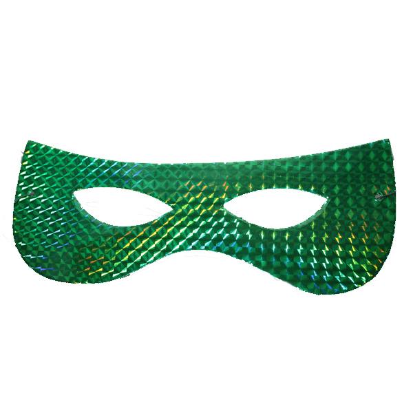 Papírszemüveg,  hologramos, zöld, 6 db/cs