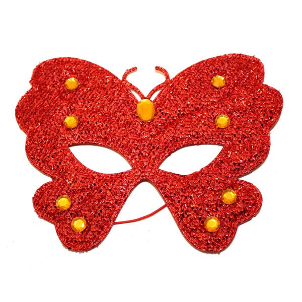 Szemálarc, szövet, pillangó, piros