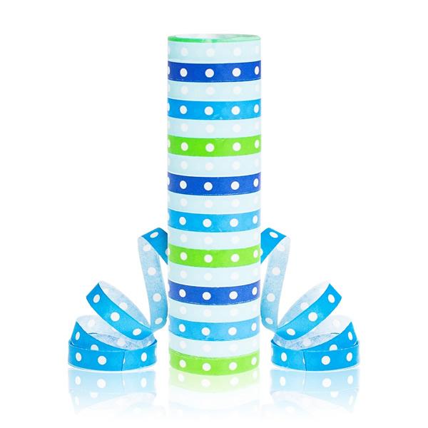 Szerpentin, Kék, pöttyös, 18 gurigás