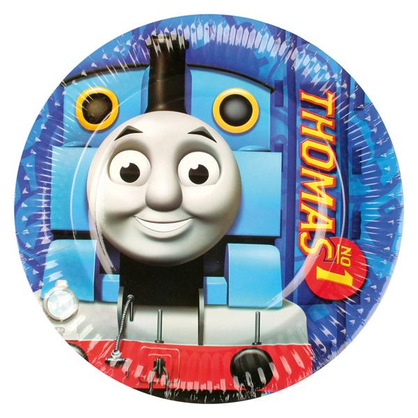 Papír tányér, Thomas a gőzmozdony, 22.8 cm, 8 db/cs