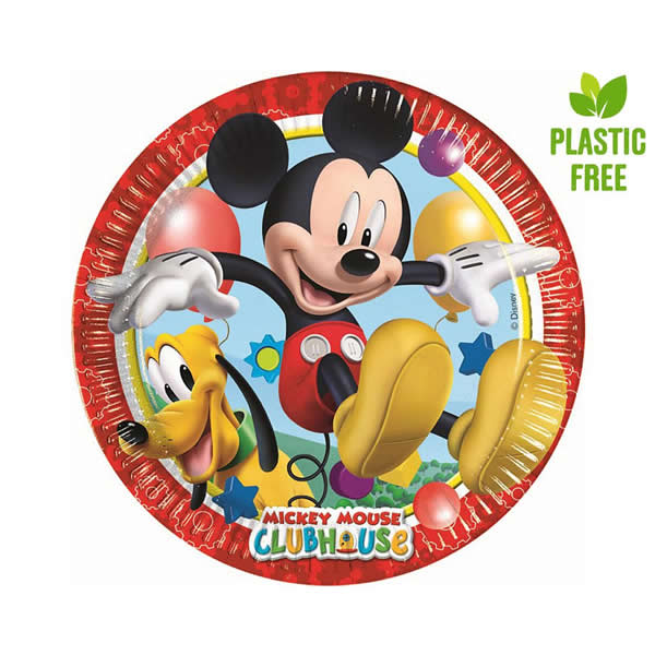 Party tányér, MICKEY MOUSE CLUBHOUSE, 8db/cs, 23cm