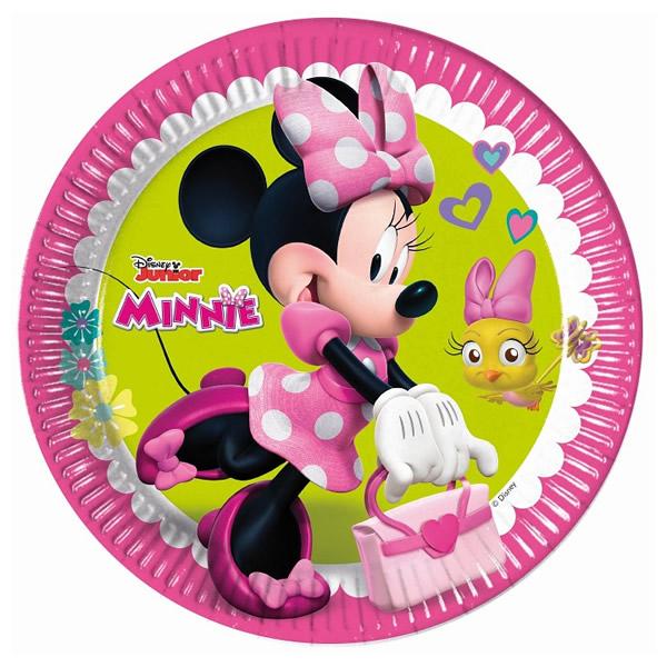 Party tányér, MINNIE, 8db/cs, 23cm