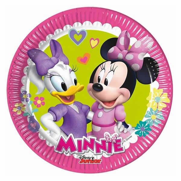 Party tányér, MINNIE HAPPY HELPERS, 8db/cs, 20cm
